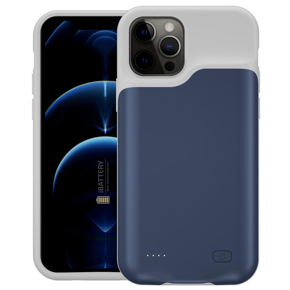 Чехол powerbank для iPhone 12 Pro 4000 mAh blue iBattery