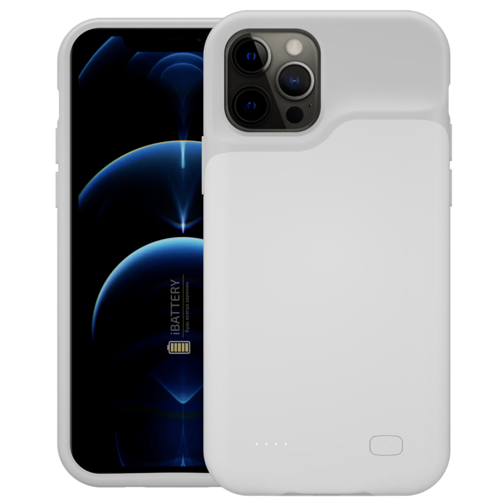 Чехол powerbank для iPhone 12 Pro 4000 mAh white iBattery
