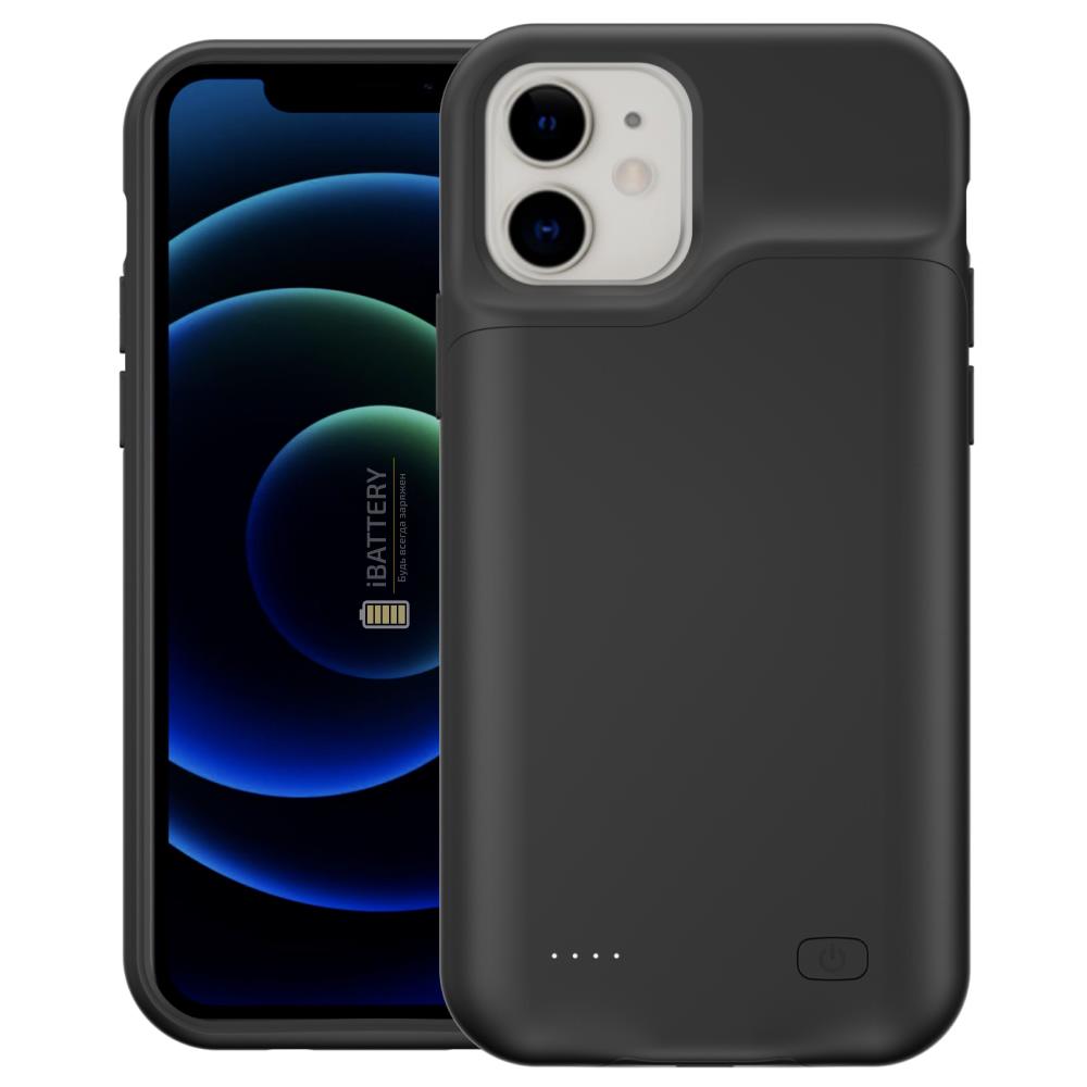 Чехол powerbank для iPhone 12 4000 mAh black iBattery