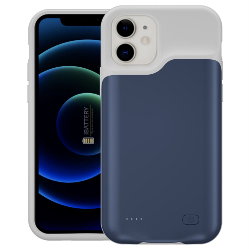 Чехол powerbank для iPhone 12 4000 mAh blue iBattery