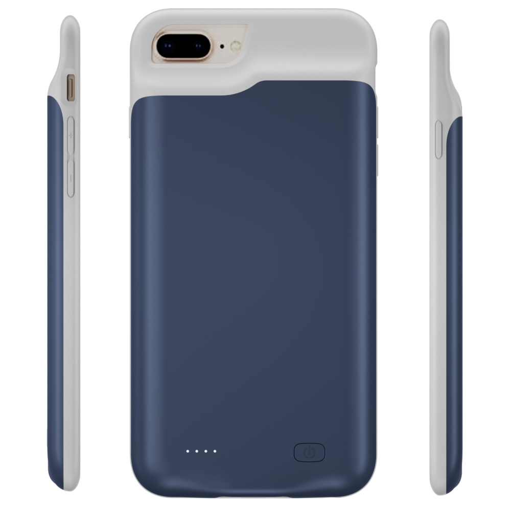 Battery case для iPhone 6/6s/7/8 Plus 6500 mAh blue