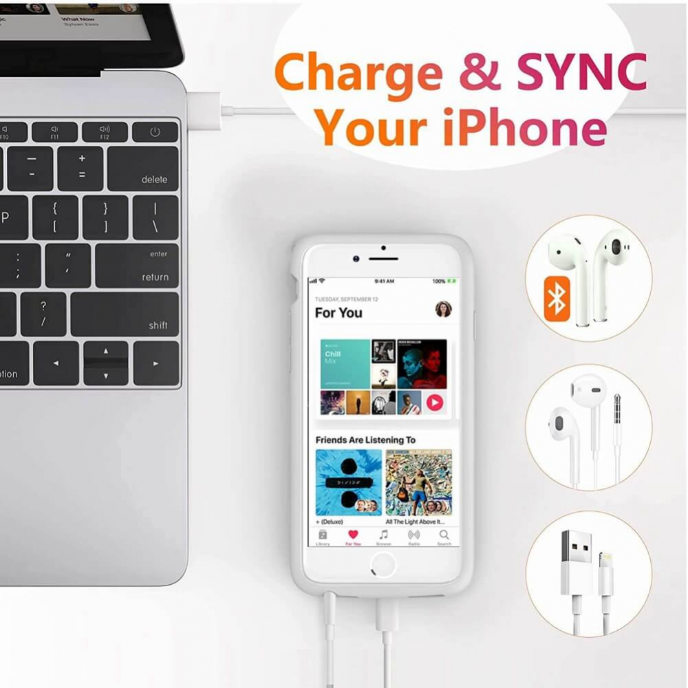 Battery case для iPhone 6/6s/7/8 6000 mAh rose