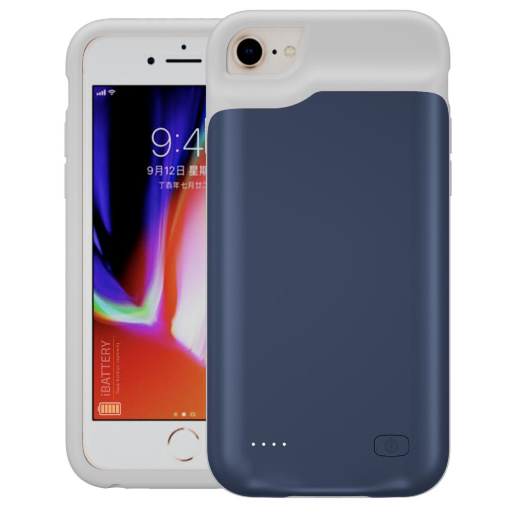 Battery case для iPhone 6/6s/7/8 6000 mAh blue