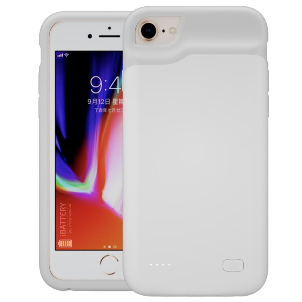 Battery case для iPhone 6/6s/7/8 6000 mAh white