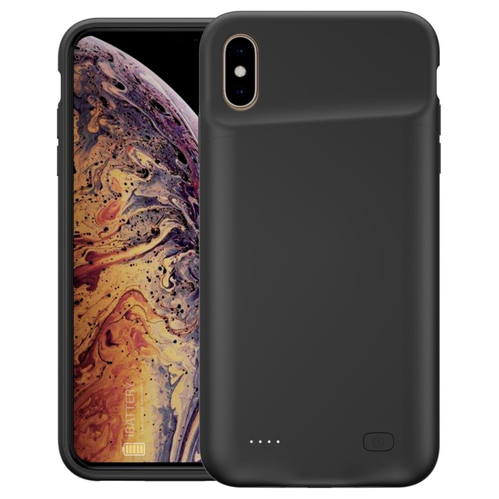 Чехол powerbank для iPhone Xs Max 6000 mAh black iBattery