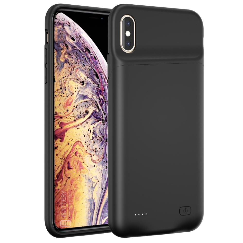 Чехол powerbank для iPhone Xs Max 6000 mAh black iBattery