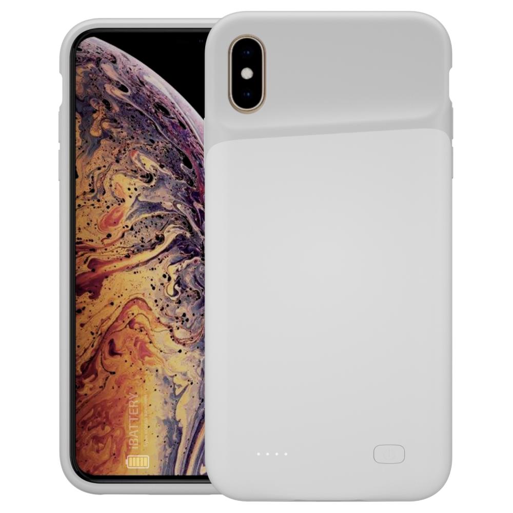 Чехол powerbank для iPhone Xs Max 6000 mAh white iBattery