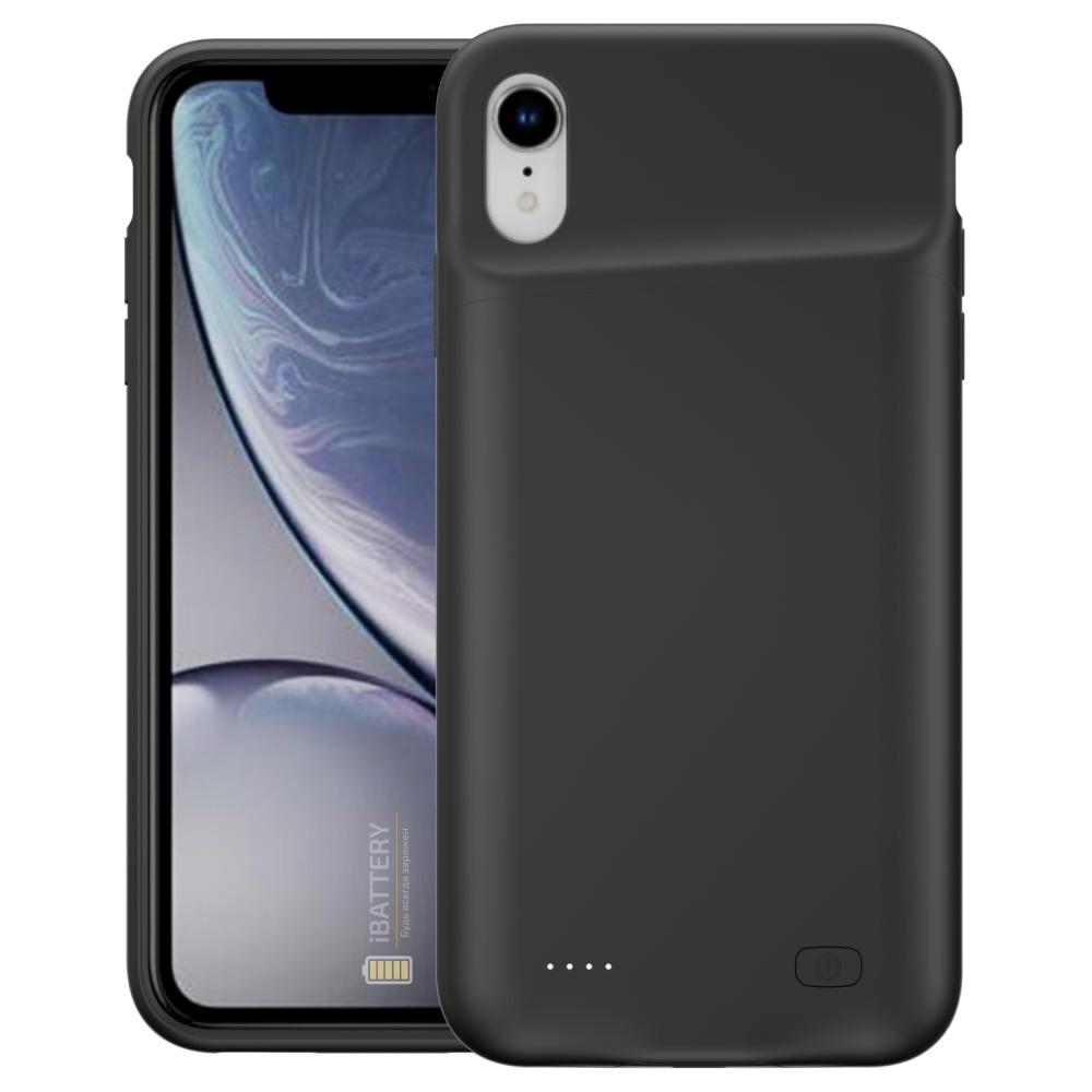 Power case для iPhone XR 6000 mAh black
