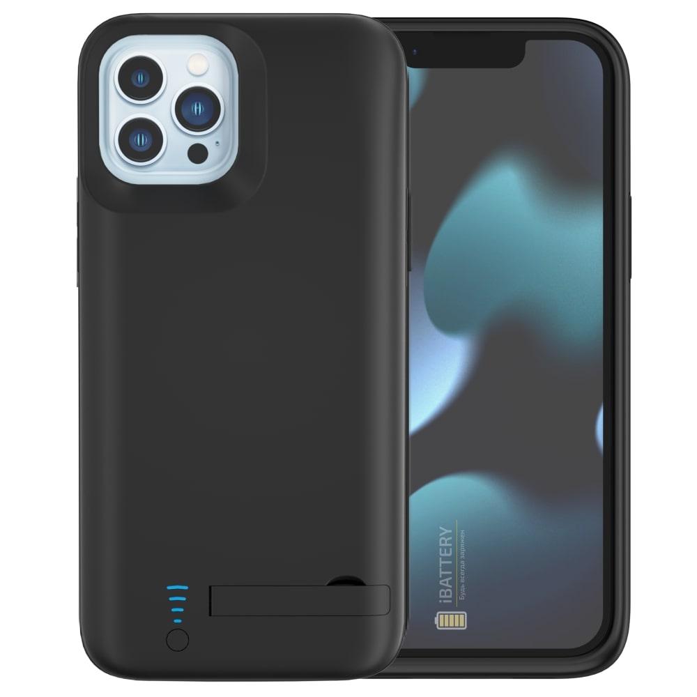 Чехол зарядка для iPhone 13 Pro 5000 mAh black iBattery
