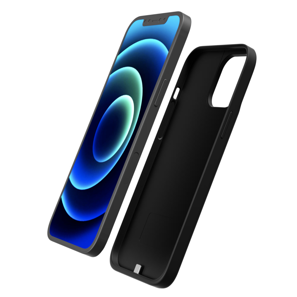 Чехол зарядка для iPhone 12 Pro 5000 mAh black iBattery