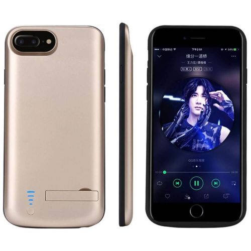 Чехол зарядка для iPhone 6+/6s+/7+/8 Plus 8000 mAh gold