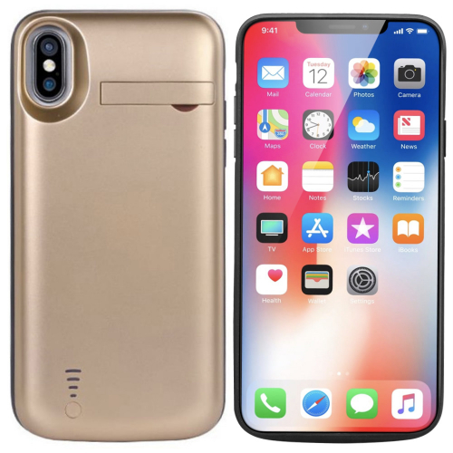 Чехол аккумулятор для iPhone X/XS 5000 mAh gold iBattery