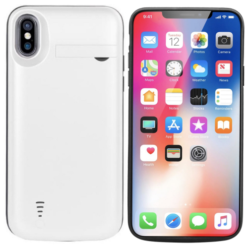 Чехол аккумулятор для iPhone X/XS 5000 mAh white iBattery