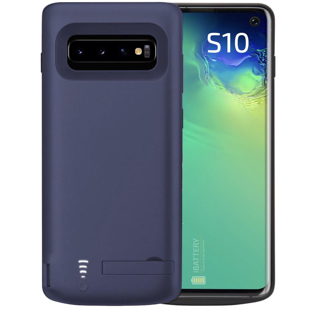 Чехол аккумулятор для Samsung S10 blue 6000 mAh iBattery