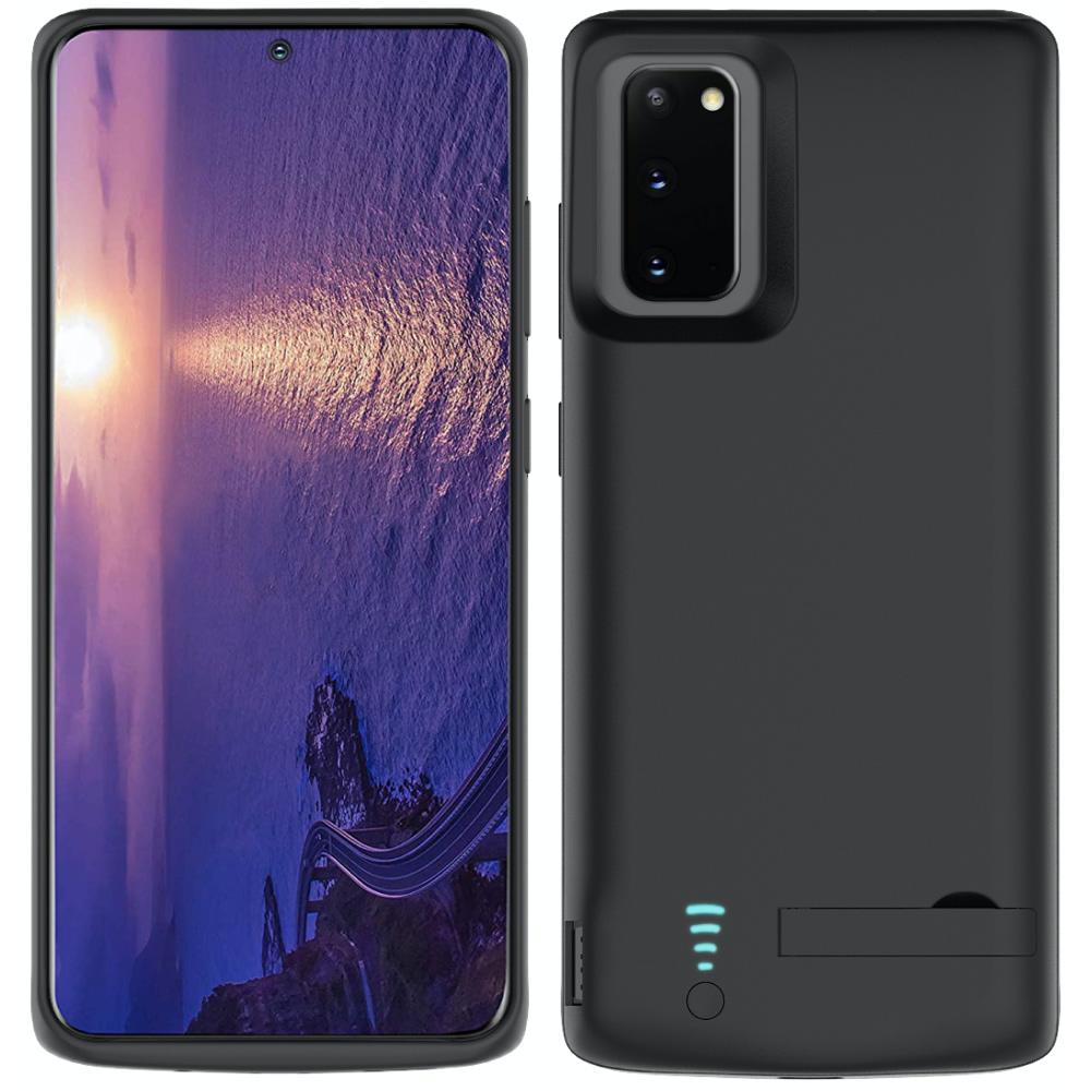 Чехол зарядка для Samsung S20 black 5000 mAh черный iBattery