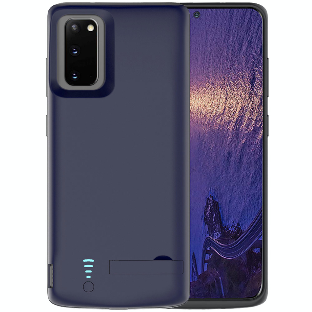 Чехол батарея для Samsung S20 blue 5000 mAh iBattery