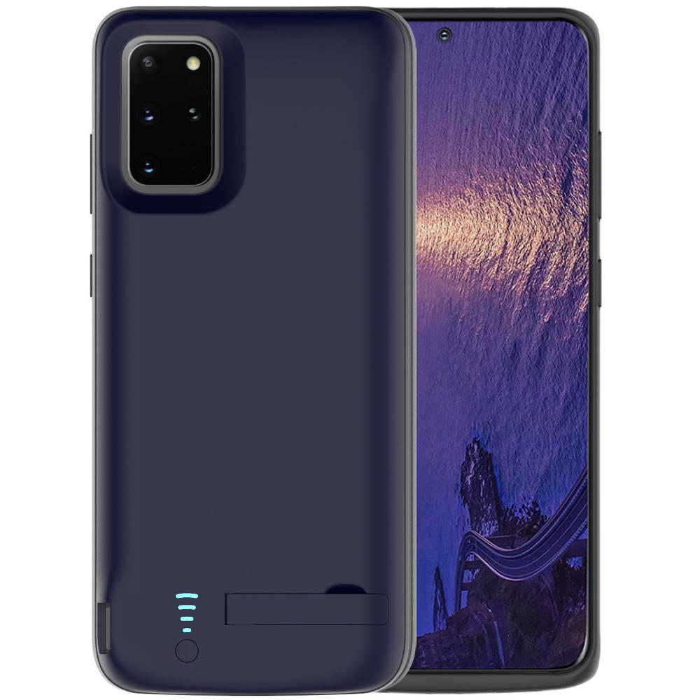 Чехол батарея для Samsung S20 Plus 6000 mAh blue iBattery