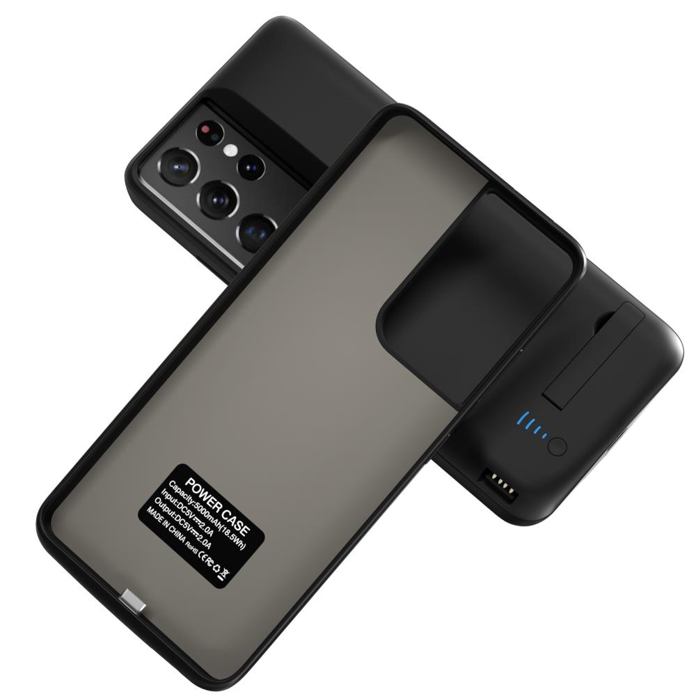 Чехол аккумулятор для Samsung S21 Ultra black 5000  mAh iBattery