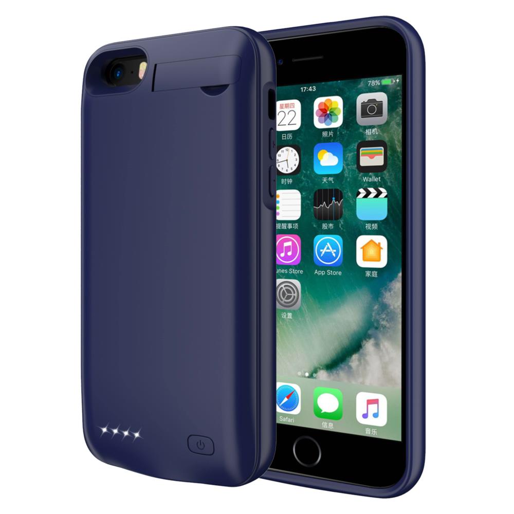 Чехол повербанк для iPhone 5/5s/SE 4000 mAh blue iBattery