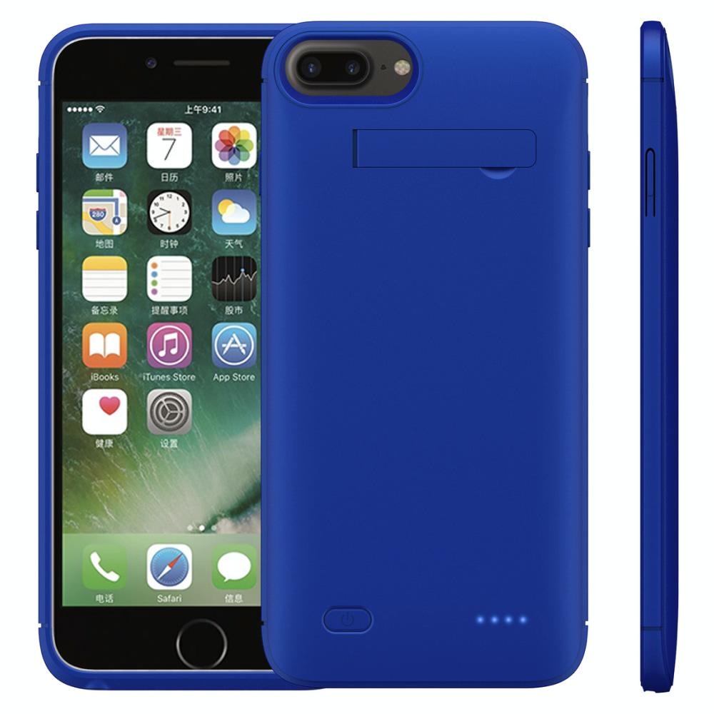 Чехол батарея для iPhone 6+/6s+/7+/8 Plus 6200 mAh blue