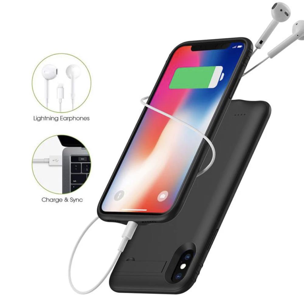 Чехол-батарея на iPhone X/XS 5200 mAh black