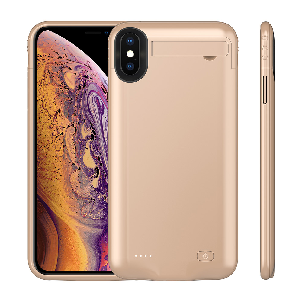 Чехол-батарея на iPhone X/XS 5200 mAh gold
