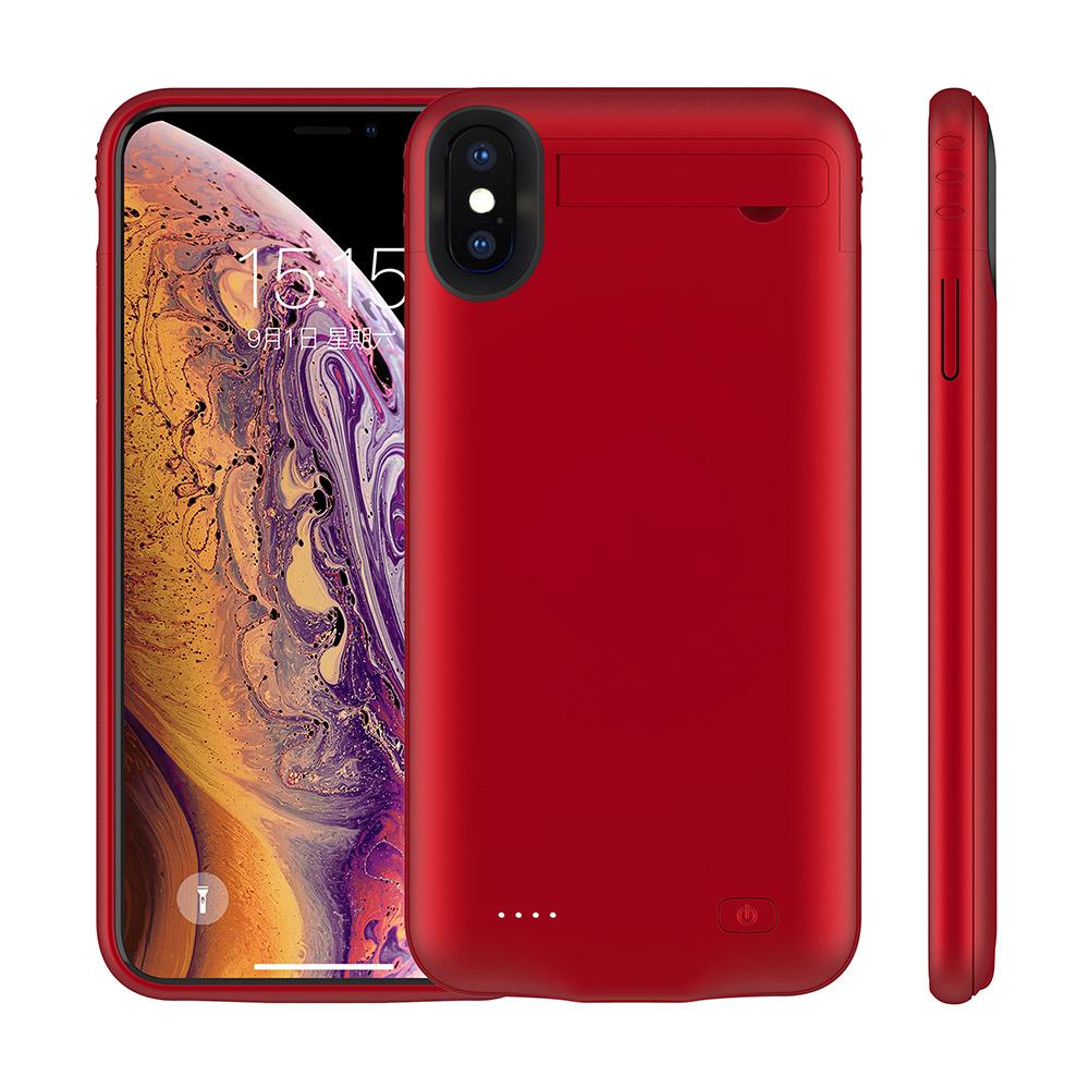 Чехол-батарея на iPhone X/XS 5200 mAh red