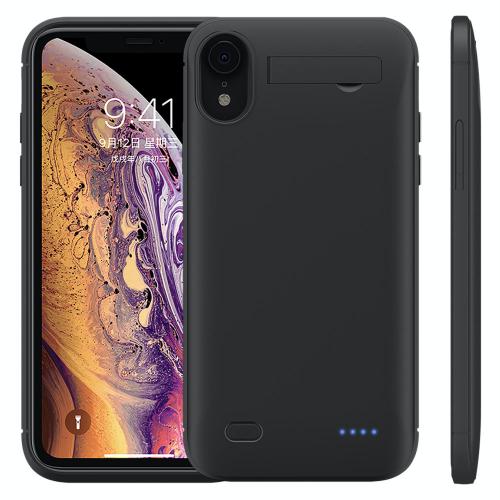 Чехол зарядка для iPhone XR 6200 mAh black
