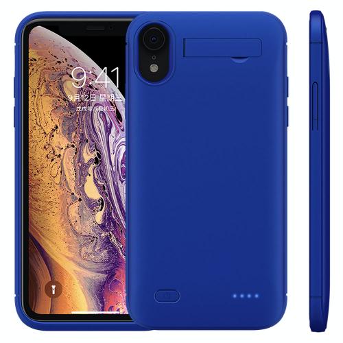 Чехол зарядка для iPhone XR 6200 mAh blue