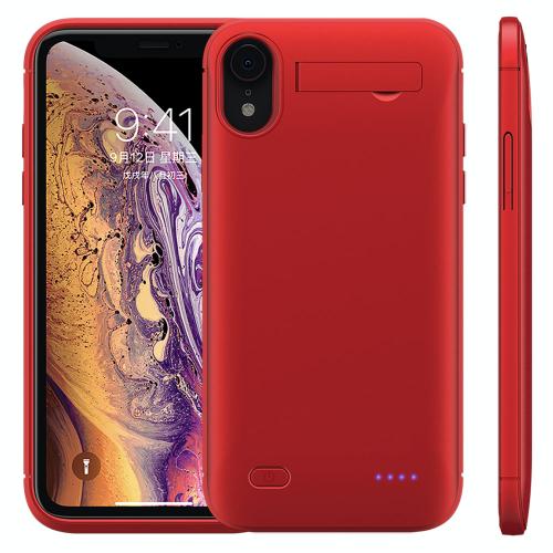 Чехол зарядка для iPhone XR 6200 mAh red
