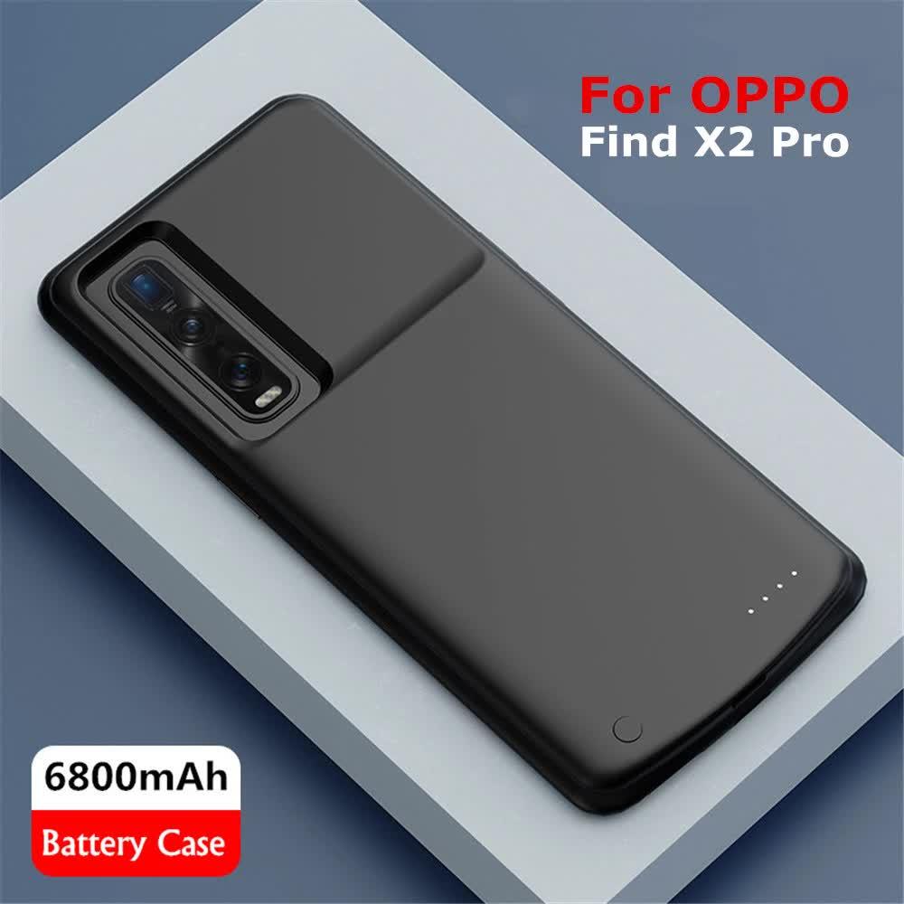 Чехол батарея для OPPO Find X2/Find X2 Pro на 6800 mAh black
