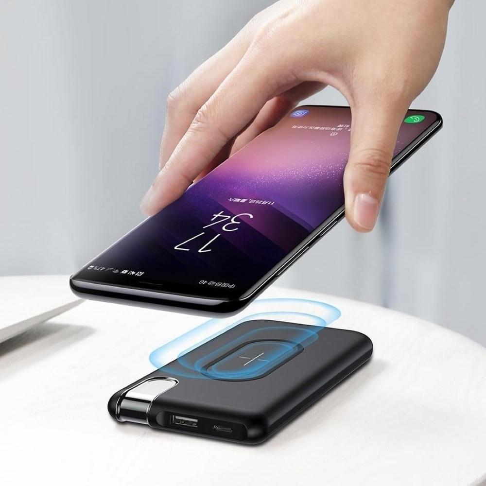 PowerBank Baseus Thin Version (Wireless Charger) 10000mAh (PPALL-QY01) Black