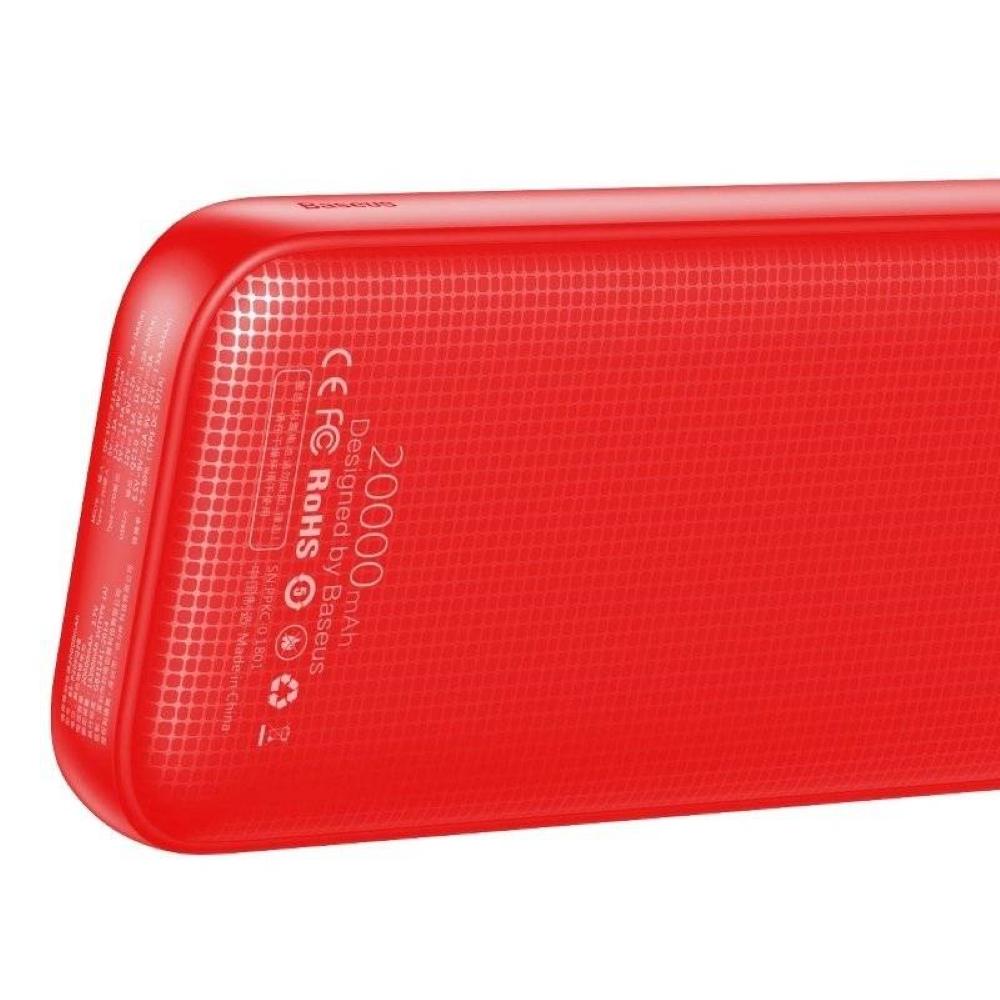 PowerBank Baseus Powerful 20000mAh (PD+QC3.0) (PPKC-A09) Red