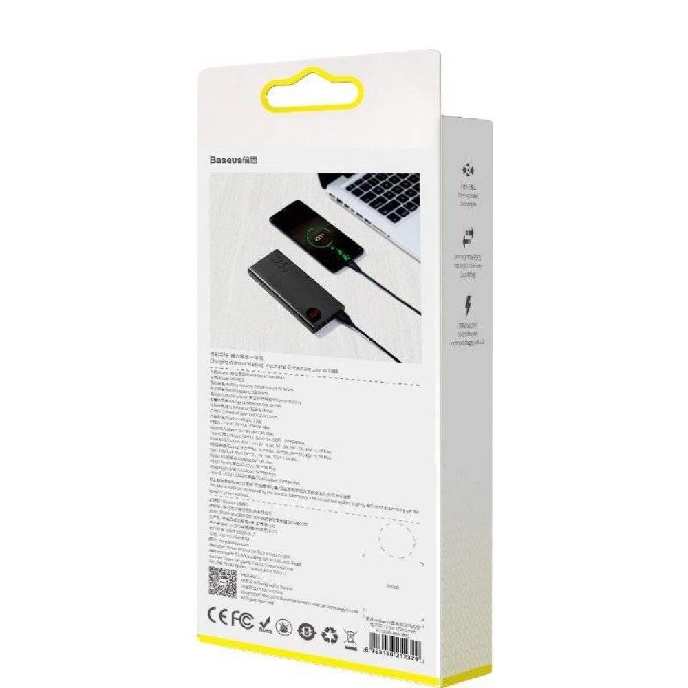 PowerBank Baseus Adaman Metal Digital Display 10000mAh (PPIMDA-B0A) Black
