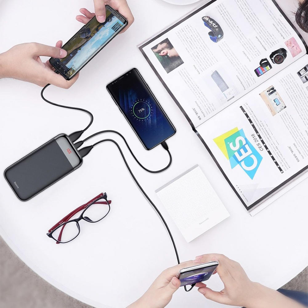 PowerBank Baseus Mini Cu Digital LCD 20000mAh (PPALL-CKU01) Black