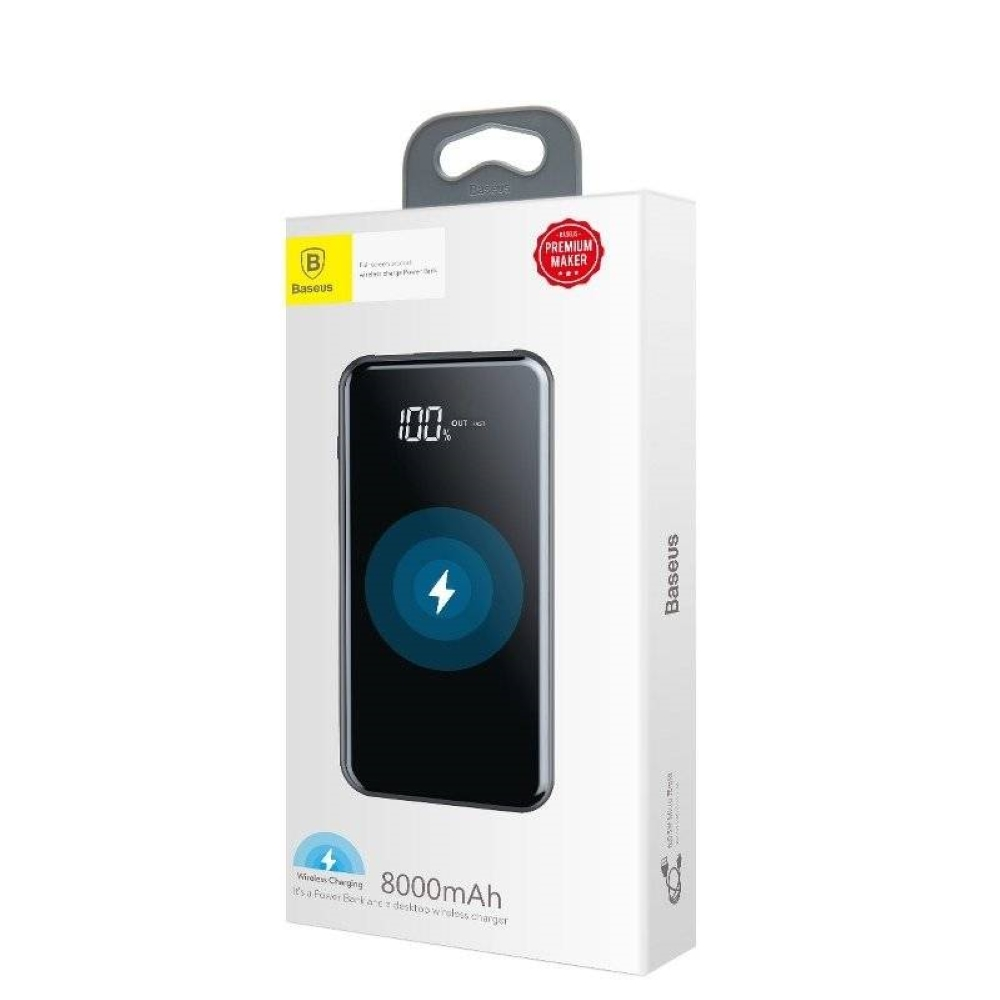 PowerBank Baseus (Wireless Charger) 8000mAh (PPALL-EX01) Black