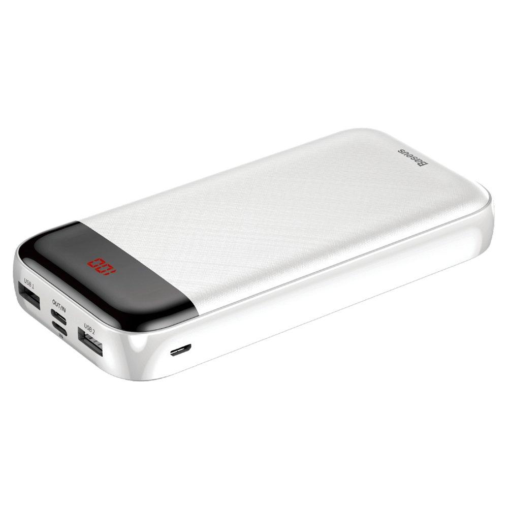 PowerBank Baseus Mini Cu Digital LCD 20000mAh (PPALL-CKU02) White
