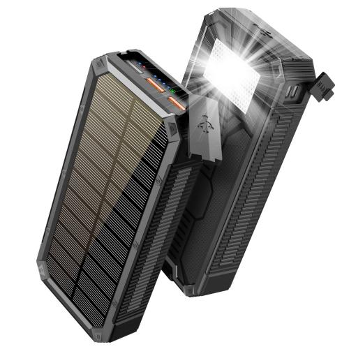 Солнечный повербанк с фонариком 30000 mAh YD- 888K black