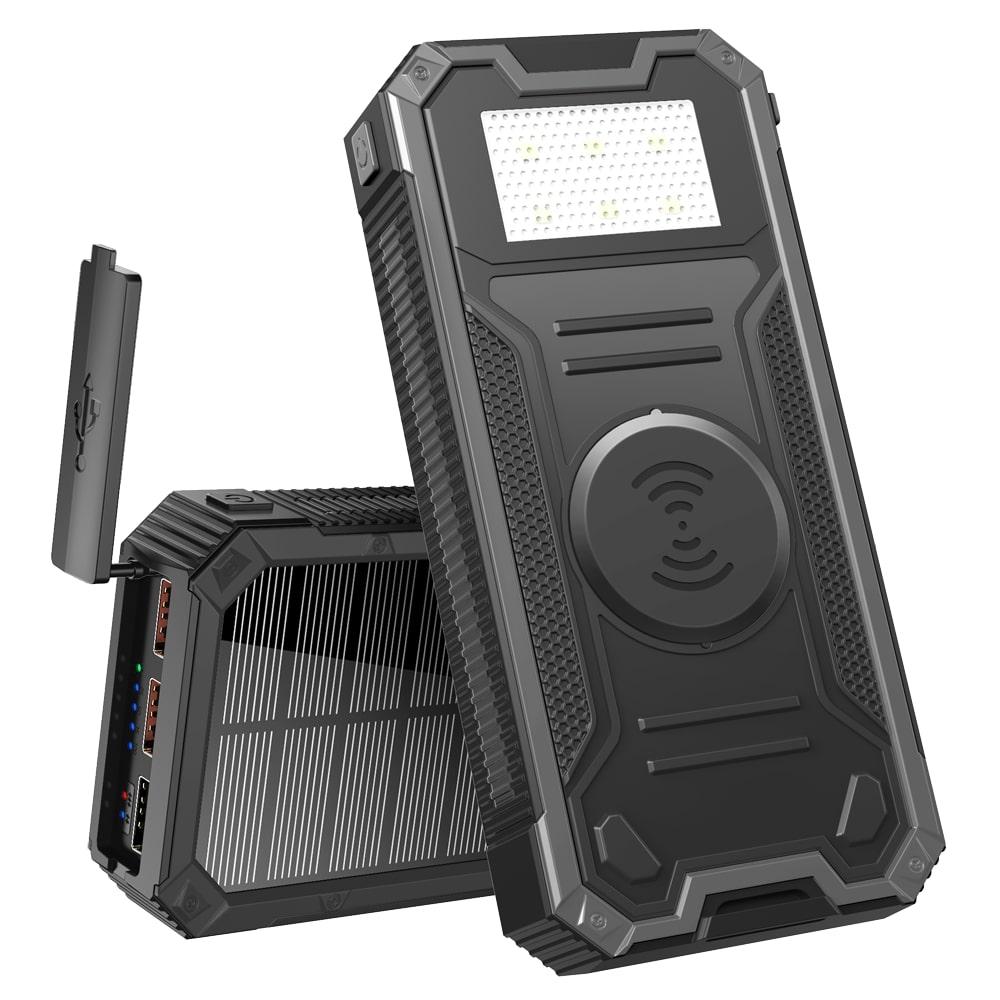 Солнечный повербанк Qi и фонариком 30000 mAh YD- 888KW black