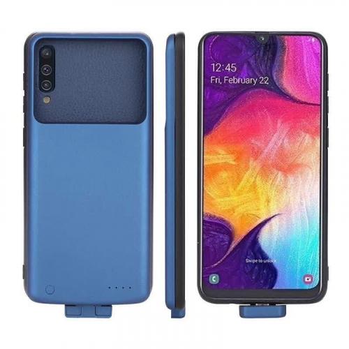 Чехол батарея для Samsung A50/A50s/A30s на 5000 mAh blue