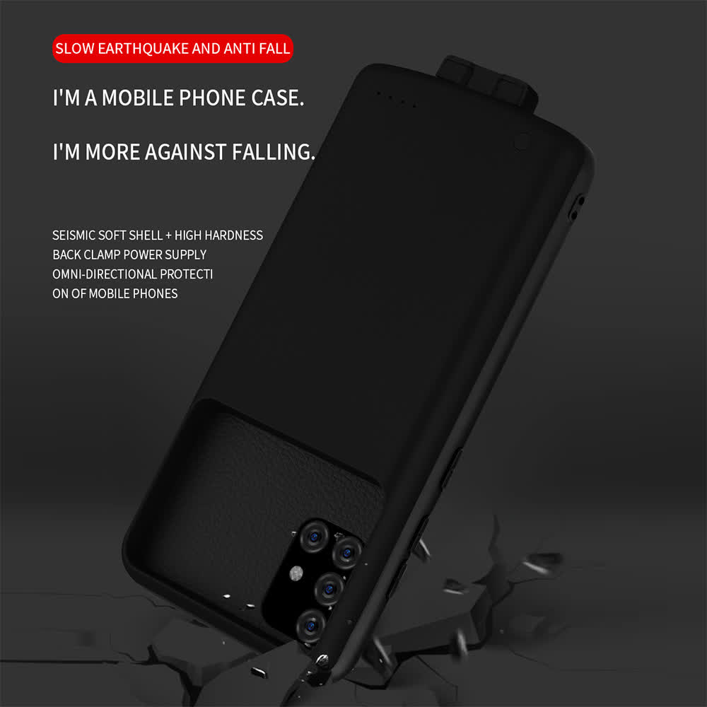 Чехол батарея для Samsung A51/A71 на 5000 mAh black
