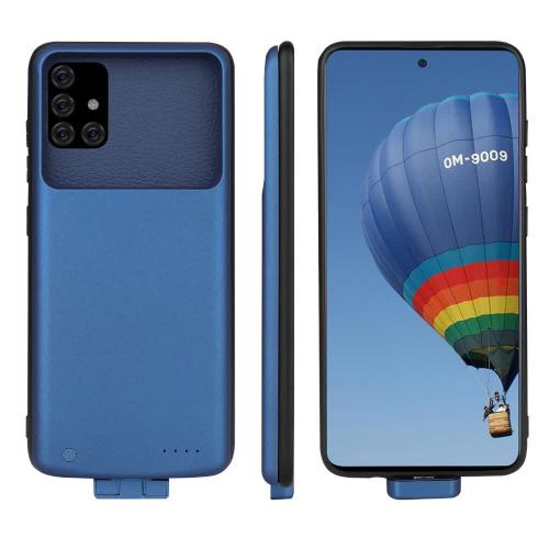 Чехол батарея для Samsung A51/A71 на 5000 mAh blue