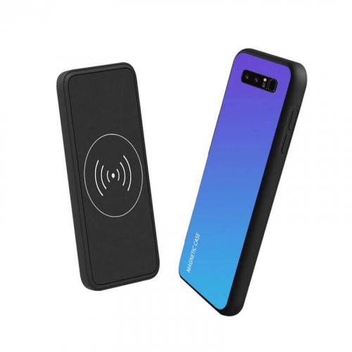 Магнитный Чехол зарядка для Samsung S8 10000 mAh blue iBattery