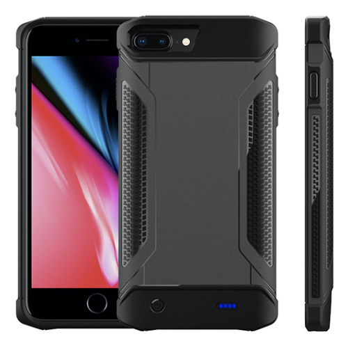 Противоударный чехол зарядка для iPhone 6/6s/7/8 Plus 5000 mAh gray