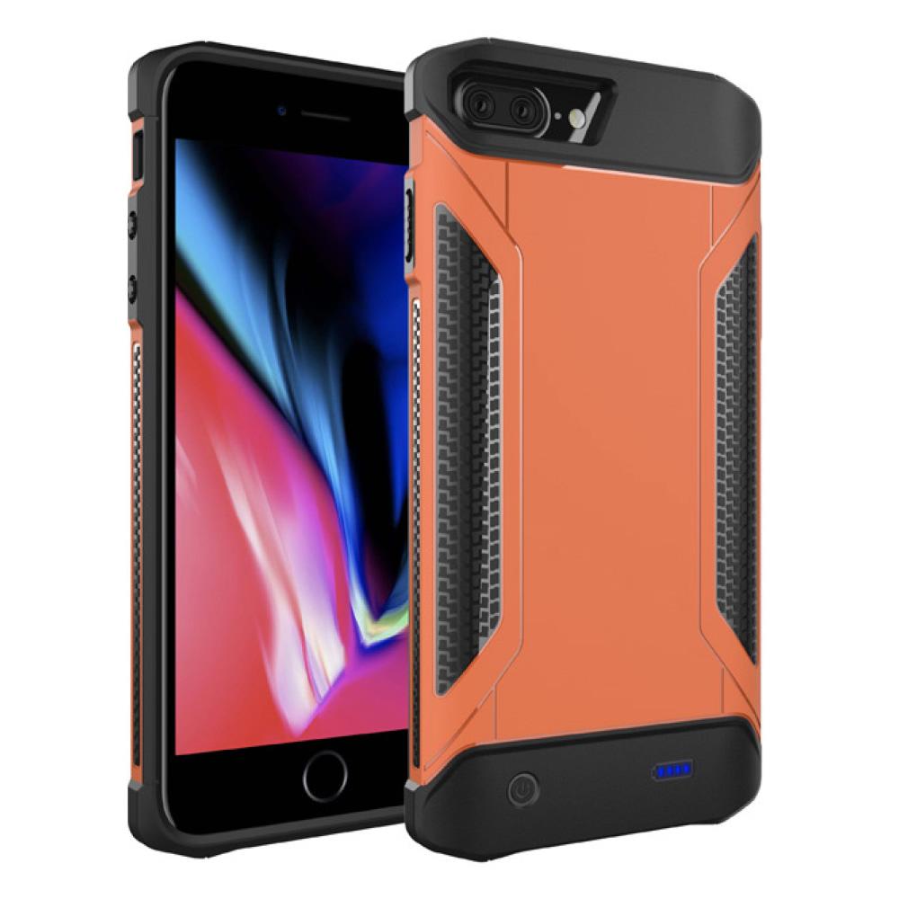 Противоударный чехол зарядка для iPhone 6/6s/7/8 Plus 5000 mAh orange