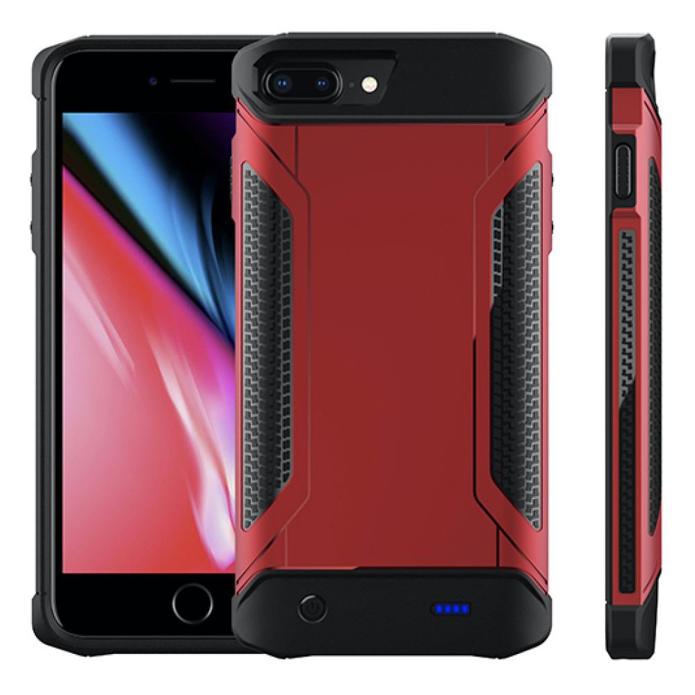 Противоударный чехол зарядка для iPhone 6/6s/7/8 Plus 5000 mAh red