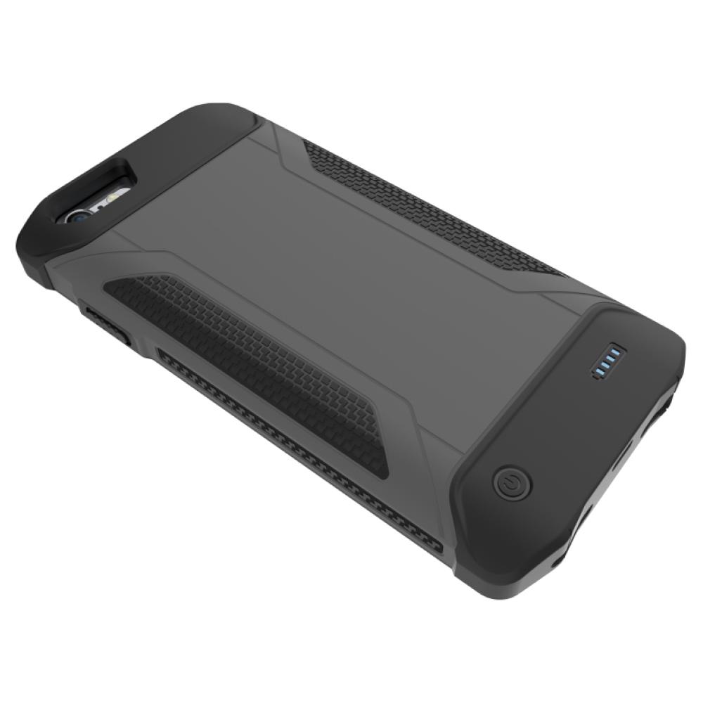 Противоударный чехол зарядка для iPhone 6/6s/7/8  4000 mAh gray