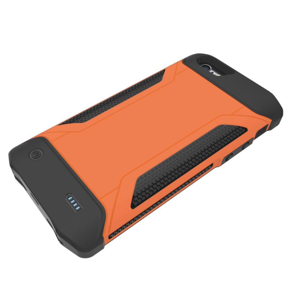 Противоударный чехол зарядка для iPhone 6/6s/7/8  4000 mAh orange