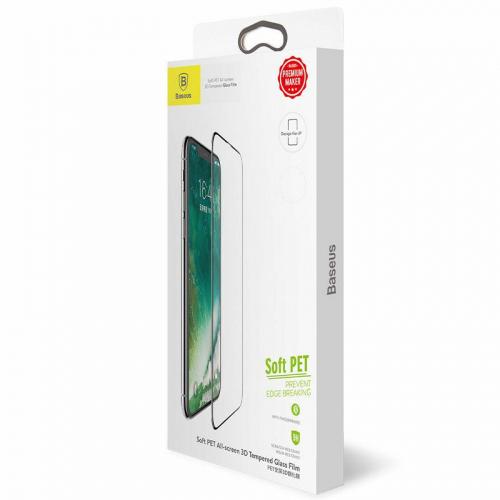 Защитное стекло Baseus (OR) All-Screen Tempered Glass iPhone X (SGAPIPHX-KE01) Black (0.3mm)