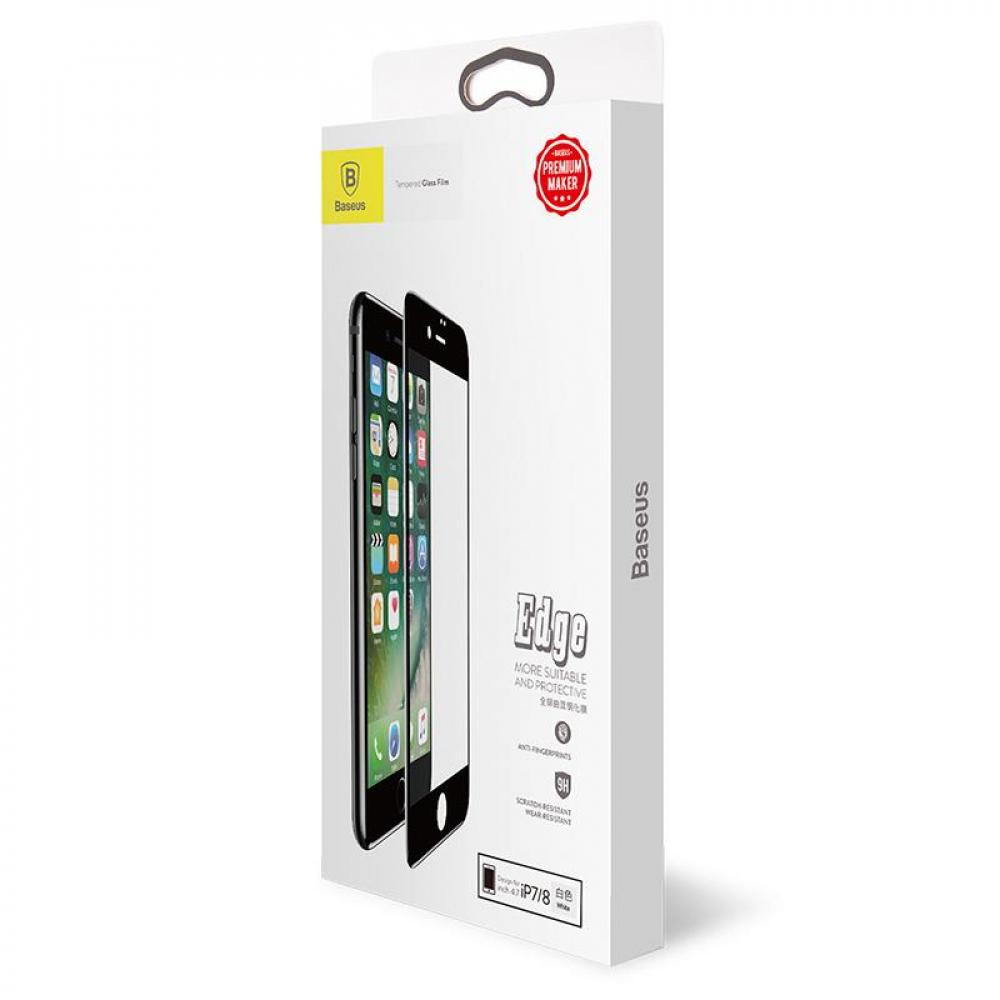 Защитное стекло Baseus (OR) All-Screen Tempered Glass iPhone 7/8 (SGAPIPH8N-KA02) White (0.3mm)